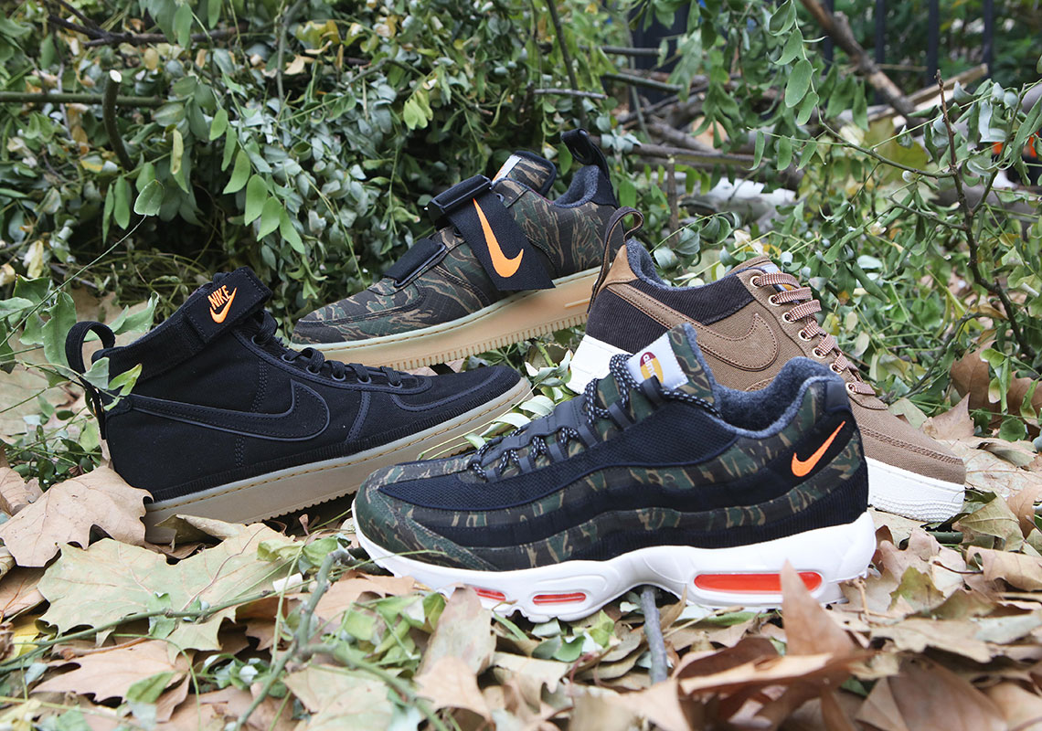 0e59c25535e Sneaker Of The Week: Detailed Look At The Carhartt WIP x Nike Sportswear  Footwear Collection – NoJokesComedy